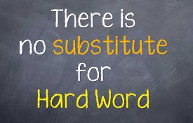 picture of substitutes  - Motivational saying that there is no substitute for hard work and you need to put in your time - JPG