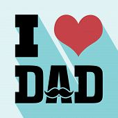 picture of happy day  - Happy fathers day card vintage retro type font - JPG