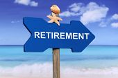 foto of retired  - Retirement on beach and sea in summer on vacation - JPG