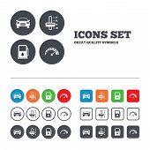 stock photo of petrol  - Transport icons - JPG