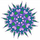 foto of holi  - Hand drawing zentangle color element - JPG