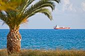 pic of lng  - Industrial ship in Mediterranean sea near Cyprus coast  - JPG