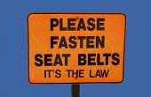 Please Fasten Seatbelts Sign