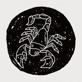 foto of scorpion  - Scorpion Doodle - JPG