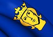 pic of sweden flag  - 3D Flag of the Stockholm Sweden - JPG