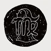 picture of virgo  - Virgo Constellation Doodle - JPG