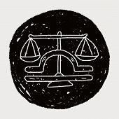 stock photo of cancer horoscope icon  - Libra Constellation Doodle - JPG