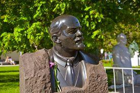 stock photo of lenin  - Vladimir Lenin monument  - JPG