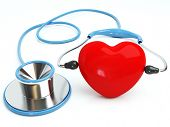 3d blue stethoscope isolated with a tooth on White Background