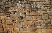 Inca wall in the city Machu-Picchu,Peru