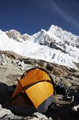Base camp Alpamayo in the Cordillera