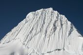 Beautiful mountain Alpamayo