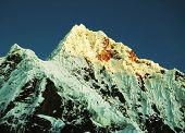 High summit Alpamayo in Cordilleras