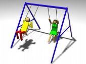 Kids On A Swing