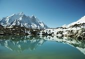 Bhagirathi Parbat peak and lake on Tapoban in Himalayan