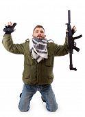 Terrorist Give Oneself Up