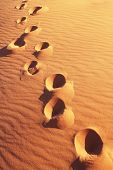 foto of footprints sand  - Footprints on the sand - JPG