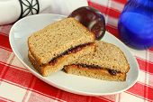Peanut Butter And Jelly On Wheat Bread