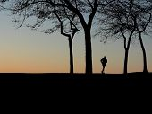 Runner In Silhouette