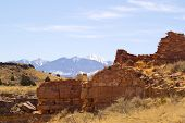 Wupatki Ruins & distant Peaks