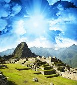 the city Machu-Picchu,Peru