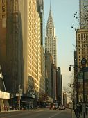 Chrysler Building And Surrounding Tower From The Near Road,  New York