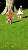 Children/Boy And Girl Running/Playing