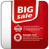 Sale banner. Vector element for sale.