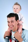 Baby On Fathers Shoulders
