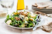 Green Salad With Pears, Blue Cheese, Walnuts poster