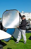 Teaching The Use Of Reflectors For An Outdoor Photoshoot