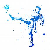 Постер, плакат: Illustration Of Abstract Football Player