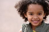 picture of beautiful face  - Beautiful african american girl doing outdoor photoshoot - JPG