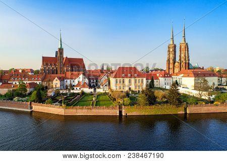 Poland Wroclaw Ostrow Tumski Gothic
