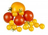 Assorted Fresh Tomatoes Isolated