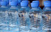 Closeup Mineral Water Bottles