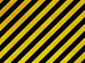 Old yellow hazard stripes