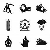 Sport Journey Icons Set. Simple Set Of 9 Sport Journey Vector Icons For Web Isolated On White Backgr poster
