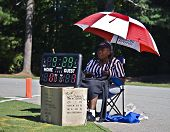 Scorekeeper At Football Game