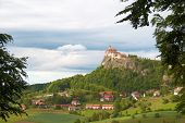 Medieval  castle on the hill. Austria