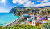 Cityscape Panorama Of Camara De Lobos, Madeira Island, Portugal poster