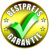 Best Preis Garantie/Schaltflächenbezeichnung, deutsche Version Bestpreis Garantie golden