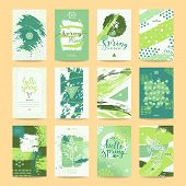 Hello Spring Greeting Card, Sale Ad, Party Invitation, Flyer And Poster. Springtime Templates Collec poster