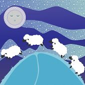 image of counting sheep  - Counting sheep - JPG