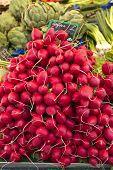 Radishes On A Street Market