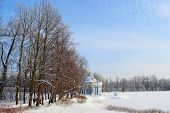Winter landscape in Tsarskoe Selo, Russia