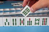 Aanraking A Mahjong tegels