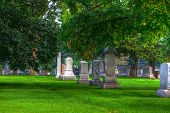 Hdr Of A Cemetery