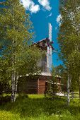 Wooden Wind Mill In Old Tradition