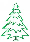 Christmas fir-tree, pictogram